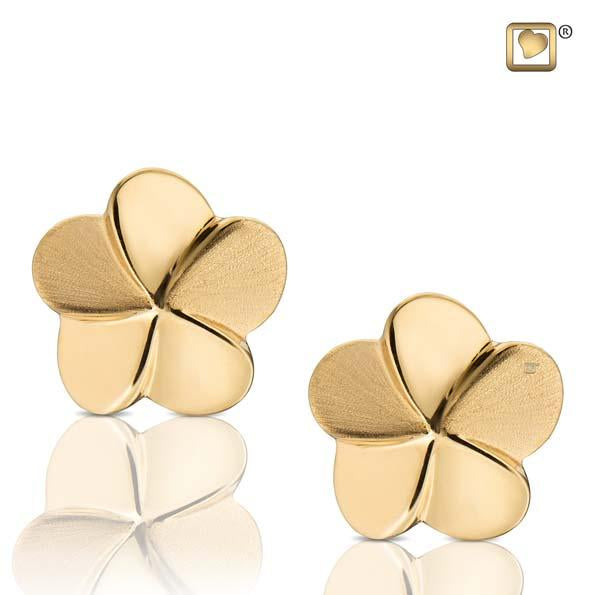 Stud Earrings Bloom Gold Vermeil Two Tone