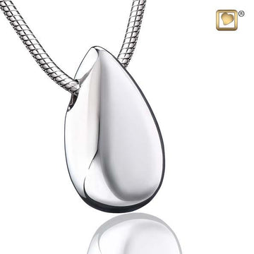 Cremation Pendant Drop Rhodium Plated