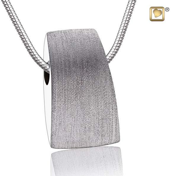 Cremation Pendant Tribute Rhodium Plated Two Tone