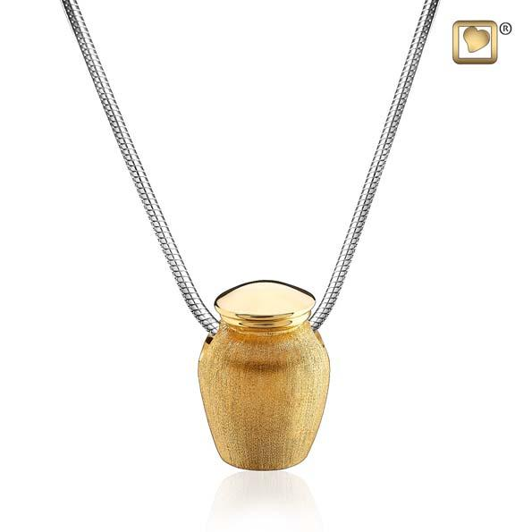 Cremation Pendant Urn Gold Vermeil Two Tone
