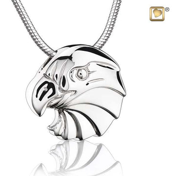 Cremation Pendant Eagle Rhodium Plated