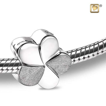 Cremation Bead Bloom Rhodium Plated Two Tone