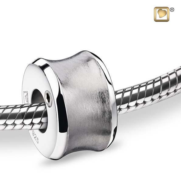 Bead Path Rhodium Plated Two Tone