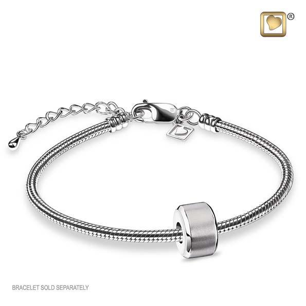 Bead Serenity Rhodium Plated Two Tone