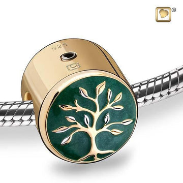 Bead Tree of Life Enamel Gold Vermeil