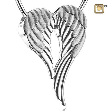 Pendant Angel Wings Rhodium Plated Two Tone