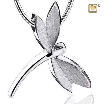 Cremation Pedant Dragonfly Rhodium Plated Two Tone