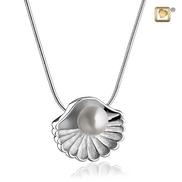 Pendant Sea Shell Pearl Rhodium Plated Two Tone