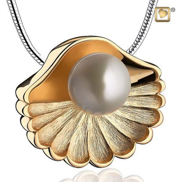 Pendant Sea Shell Pearl Gold Vermeil Two Tone