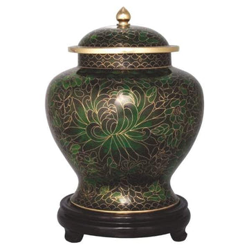 Foret Green Cloisonné Infant Urn