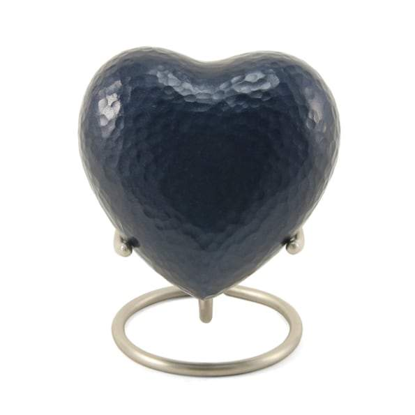 Legacy Metallics Blue Heart Keepsake Urn