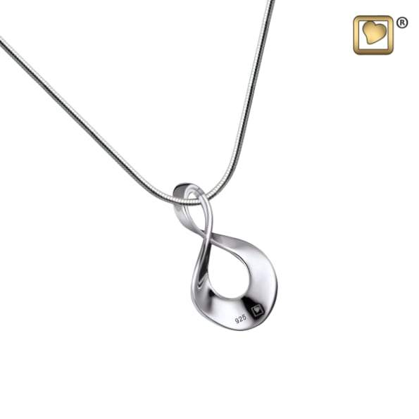 Cremation Pendant Infinite Love Rhodium Plated
