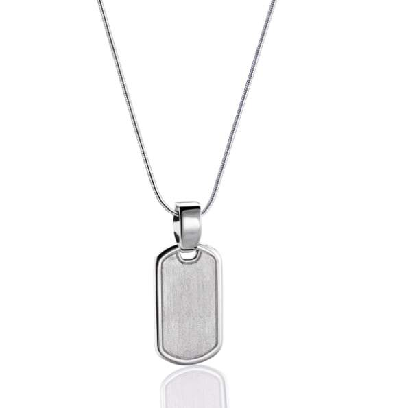 Cremation Pendant LoveTag Rhodium Plated Two Tone