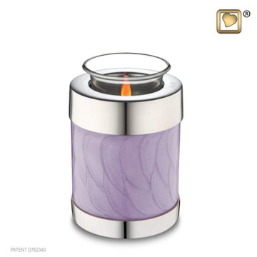 Tealight Lavender Silver Cremation Keepsake
