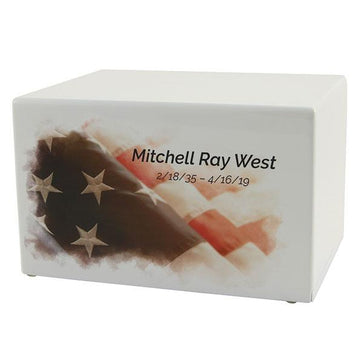 Somerset American Flag Adult Urn