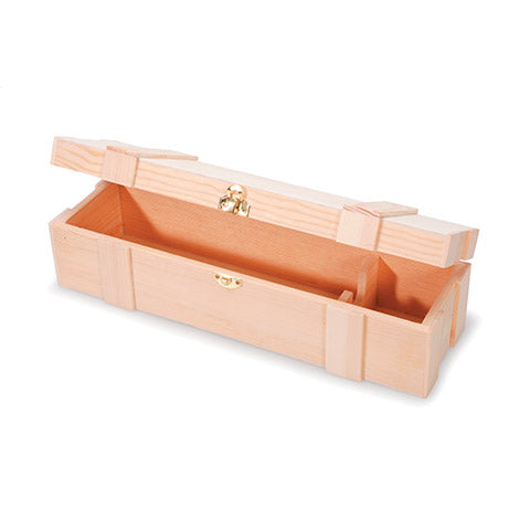 One Bottle Wooden Wine Box with Hinge