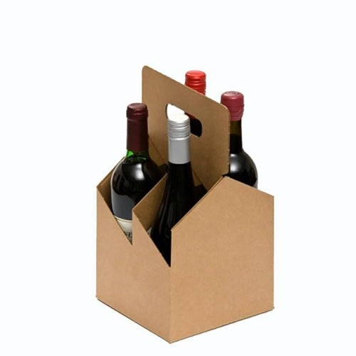 4-Pack Kraft Bottle Carrier