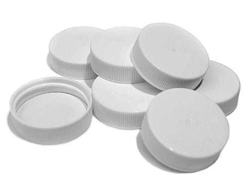 White Plastic Growler Caps