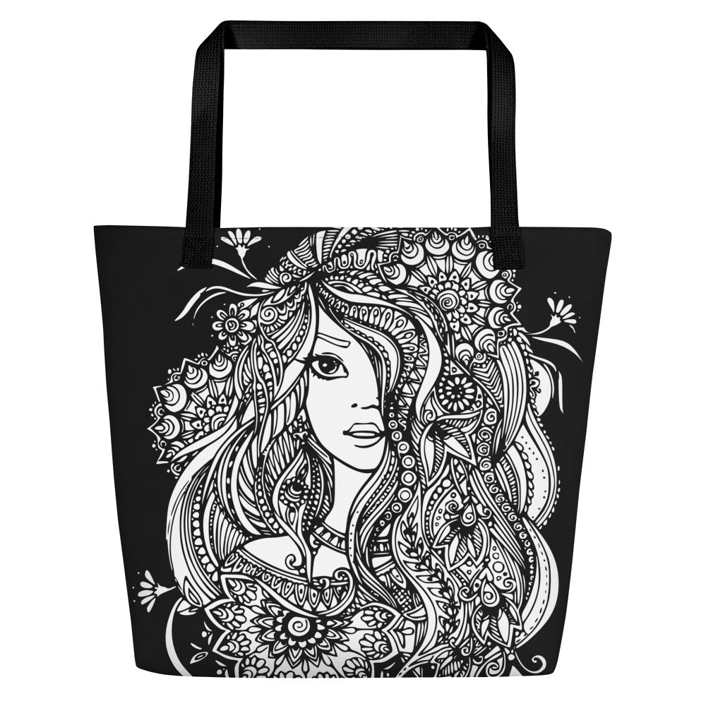 Beach Bag Color in Girl Black