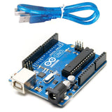 Arduino Uno R3 Development Board, Kit Microcontroller Based on ATmega328 and ATMEGA16U2 with USB Cable for Arduino, 1 Arduino Board and 1 Cable, Microcontroller for DIY Project