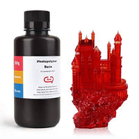 ABS-Like 3D Printer Rapid Resin LCD UV-Curing Resin 405nm Standard Photopolymer Resin for LCD 3D Printing 500Gram Clear Red