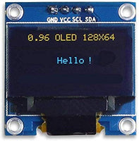 KAILEDI. Display 0.96 Inch Yellow Blue SSD1306 Driver I2C Serial Self-Luminous Display Board for Arduino Raspberry PI