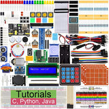 Ultimate Starter Kit for Raspberry Pi 4 B 3 B+, 434 Pages Detailed Tutorials, Python C Java, 223 Items, 57 Projects, Learn Electronics and Programming, Solderless Breadboard