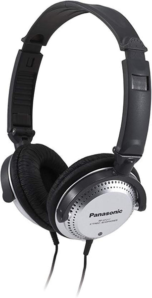 PANASONIC Stereo Headphones with XBS Port, Integrated Volume Controller and Lightweight Foldable Design - RP-HT227-K – Over the Ear Headphones (Black & Silver)