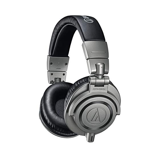 ATH-M50xGM Professional Monitor Headphones, Gun Metal