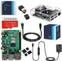 Raspberry Pi 4 Complete Kit with Clear Transparent Fan Cooled Case (4GB)
