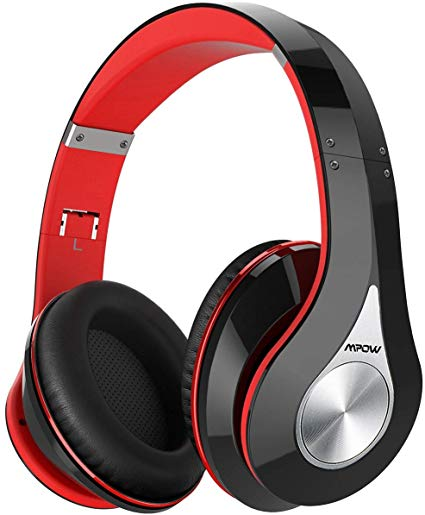 059 Bluetooth Headphones Over Ear, Hi-Fi Stereo Wireless Headset, Foldable, Soft Memory-Protein Earmuffs, w/Built-in Mic Wired Mode PC/Cell Phones/TV