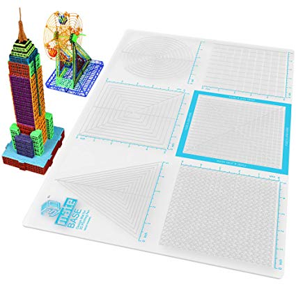 3D Pen Mat Multi Purpose Silicon 3D Design Mat for 3D Printing Pen with Drawing Templates and Stencils