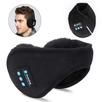 Bluetooth Earmuffs Headphones, Bluetooth 5.0 Wireless HD Stereo Music Ear Warmer, Foldable Wool Warmer with Mic Built-in Stereo Speakers for Winter Outdoor Men Women & Kids