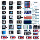 Upgraded 37 in 1 Sensor Modules Kit with Tutorial Compatible with Arduino IDE UNO R3 MEGA2560 Nano