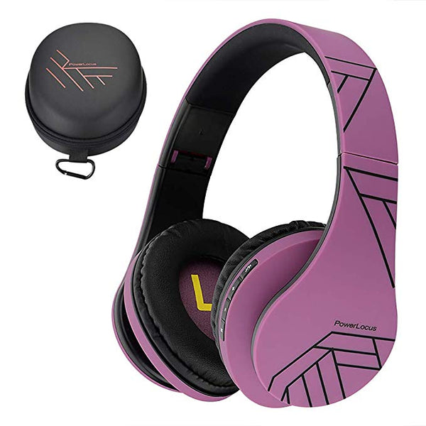 Bluetooth Over-Ear Headphones, Wireless Stereo Foldable Headphones Wireless and Wired Headsets with Built-in Mic, Micro SD/TF, FM for iPhone/Samsung/iPad/PC (Purple)