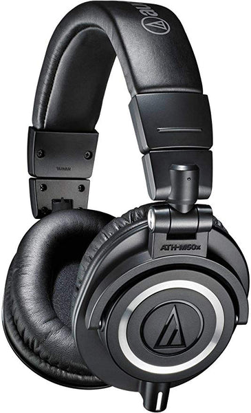 ATH-M50x Professional Studio Monitor Headphones, Black