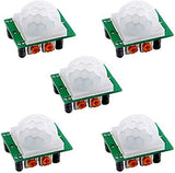 Devbattles Arduino Pir Motion IR Sensor Body Module Infrared 5 Pack HC-SR501 for Arduino