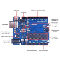 UNIROI UNO Starter Kit for Arduino Beginner with Tutorial,Upgraded Project UNO R3 UA005