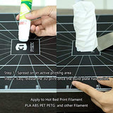 3D Printer Glue Sticks,  3Pcs Solid Stickers for 3D Printer Hot Bed Print Filament PLA ABS PET PETG and Other More