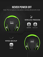 059 Bluetooth Headphones Over Ear, Hi-Fi Stereo Wireless Headset, Foldable, Soft Memory-Protein Earmuffs, w/Built-in Mic and Wired Mode for PC/Cell Phones/TV.