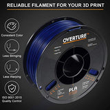 PLA Filament 1.75mm with 3D Build Surface 200mm × 200mm 3D Printer Consumables, 1kg Spool (2.2lbs), Dimensional Accuracy +/- 0.05 mm, Fit Most FDM Printer, Blue