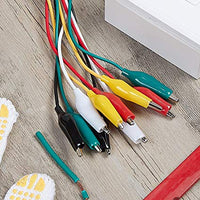 Aligator Clips 10 Pieces and 5 Colors Test Lead Set & Alligator Clips,20.5 inches (1 Pack)