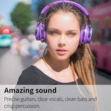COWIN E7 Active Noise Cancelling Bluetooth Headphones with Microphone Deep Bass Wireless Headphones Over Ear, Comfortable Protein Earpads, 30H Playtime for Travel Work TV Computer Phone - Purple
