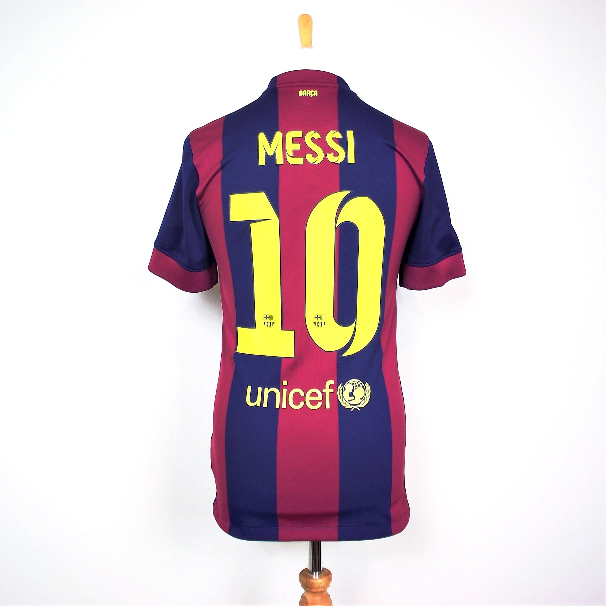 hot sale online 1be0c c5f4f Barcelona vintage Lionel Messi Nike home football shirt ...