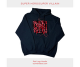 Super Hero/Super Villain Red Logo Hoodie