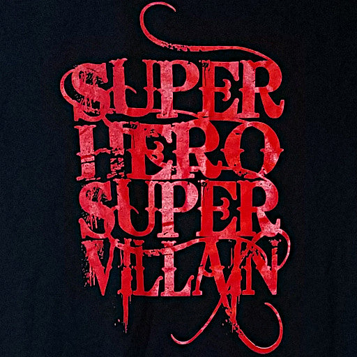 Super Hero/Super Villain Red Logo Tee
