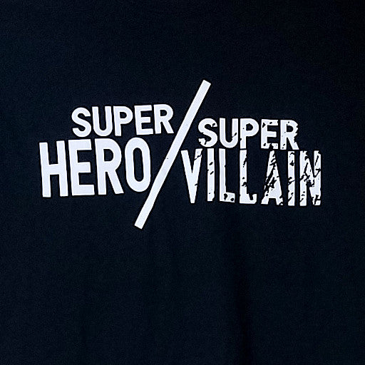 Super Hero/Super Villain White Logo Tee