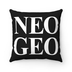 Ultimate Neo Geo Collectible - High Quality Art Work 100% Polyester cover Double sided print Concealed zipper pillow included. Gamer, Retro, PixelRetro, SNK, Neo Geo, AES, Arcade, 90s, 1990s, MVS, Group, Gold, Faces Japanese, Video Game, Console, Logo, KOF, Metal Slug, Shop, Home Decor, Sofa, Couch, Room, Online, Rondo