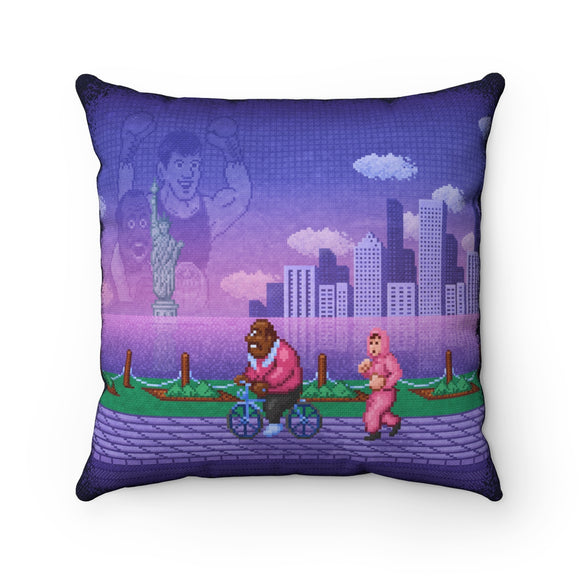 Round 1 High Quality Art Work 100% Polyester cover Double sided print Concealed zipper pillow included. Punch Out, PunchOut, Punch-Out, Boxing, Box, Glove, Mike Tyson, Little Mac, Lil, Mario, NES, Nintendo, Pixel, 8-bit, Retro, Video Game, TKO, King Hippo, Training, Joe, Soda Popinski, Doc Louis, Likelikes, New York