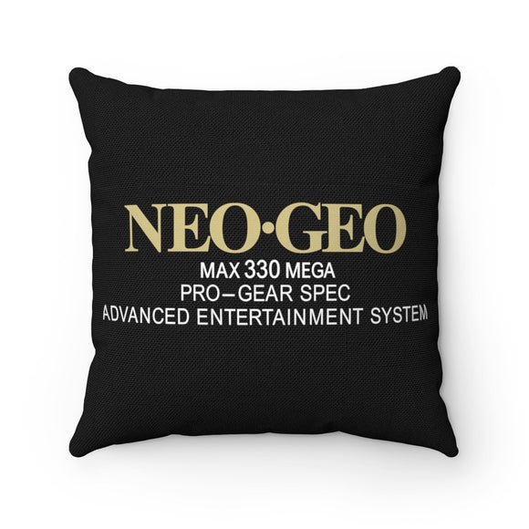 Ultimate Neo Geo Collectible - High Quality Art Work 100% Polyester cover Double sided print Concealed zipper pillow included. Gamer, Retro, PixelRetro, SNK, Neo Geo, AES, Arcade, 90s, 1990s, MVS, Group, Gold, Faces Japanese